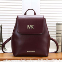 Michael Kors MK Women Casual School Bag Cowhide Leather Backpack