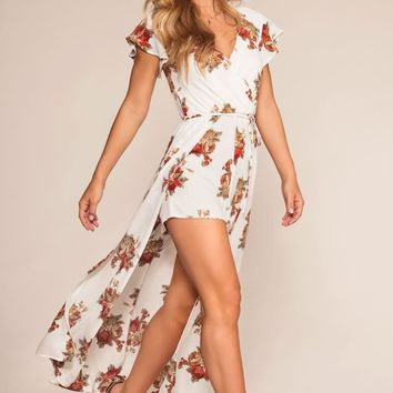 Garden With A View Floral Romper