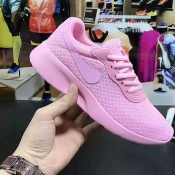 NIKE TANJUN KAISHI Fashion Running Sport Casual Shoes Sneakers full pink