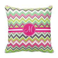 Monogram Aztec Andes Tribal Mountains Chevron