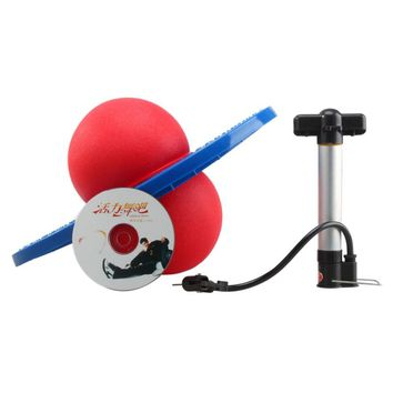 Rock Hopper Balance Pogo Jumping Exercise Space Ball Toy Red Ball Blue Board