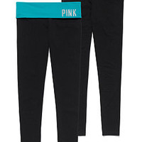 Bling Foldover Yoga Legging - PINK - Victoria's Secret