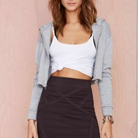Nasty Gal Thunder Road Knit Skirt