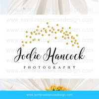 OOAK Premade Logo Design - Golden Bokeh - Perfect for a wedding photographer or a lifestyle blogger