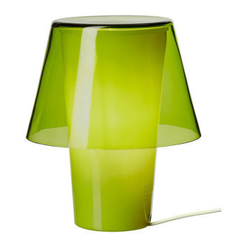 GAVIK Table lamp - green/frosted glass - IKEA
