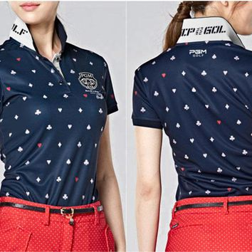 Newest! Women Sportswear Clothes Top Shirt Polo