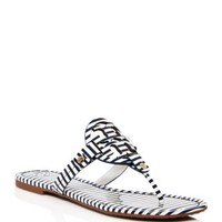 Tory BurchMiller Striped Thong Sandals