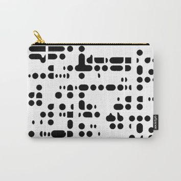 MACRO PIXELS Carry-All Pouch by CALLEFRANCIA