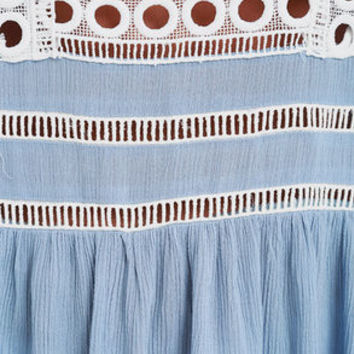 Freelance Favorite Light Blue Embroidered Top