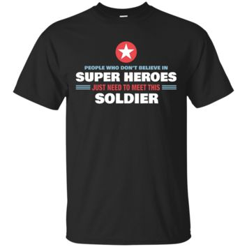 People Meet This Super Hero Soldier T-shirt