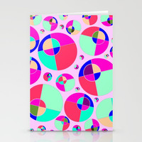Bubble pink Stationery Cards by Zia
