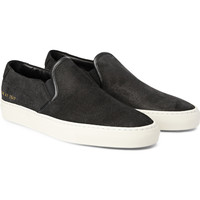 Common Projects - Waxed Suede Slip-On Sneakers | MR PORTER