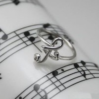 BlueBand — Musical Note Sterling Silver Ring