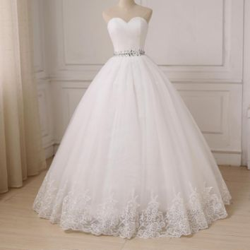 Wedding Dress Ball Gown Sweetheart Tulle Bride Dresses