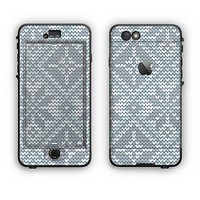 The Knitted Snowflake Fabric Pattern Apple iPhone 6 Plus LifeProof Nuud Case Skin Set