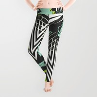 Tribal Zest Leggings by ALLY COXON | Society6