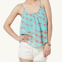 Printed Popover Crop Swing Tank