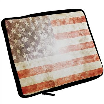 4th of July American Flag Star Spangled Banner iPad Tablet Sleeve