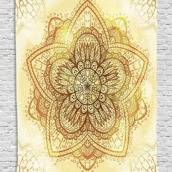 SMAVIA India Bohemian Mandala Tapestry Rectangle Polyester 200*145cm Tapestry Decor Wall&Throw Rug Blanket Camping-24 colors