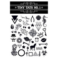 Tiny Tats All Black Temporary Tattoo Collection