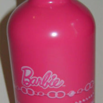 Barbie Pink Aluminum Water Bottle Carabiner Screw On Cap 13 ounces Lightweight