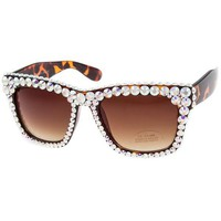 Calliope Swarovski Crystal Embellished Brown Sunglasses