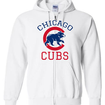 Chicago cubs World series Gildan Zip Hoodie T-Shirt