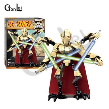 Star Wars Force Episode 1 2 3 4 5 NEW Arrivals  General Grievous Lightsaber Building Blocks Figures Toys For Children Compatible with legoing 75112 Block AT_72_6