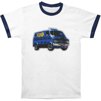 Beastie Boys Men's  Van Art Mens Ringer T T-shirt White/Navy