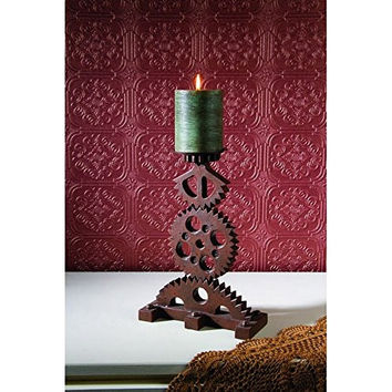 Steampunked Gears Candle Holder - 12-in