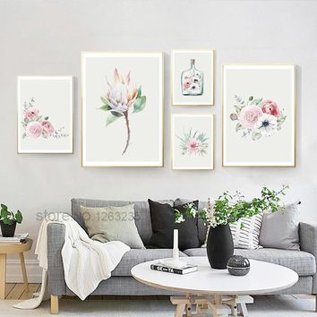 Succulent Plants Flower Nordic Poster Cuadros Decoracion Wall Pictures For Living Room Quadro Wall Art Canvas Painting Unframed