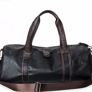Men's travel bags oil wax leather Luggage bag