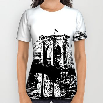 New York line All Over Print Shirt by Claude Gariepy