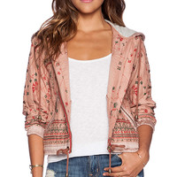 Free People Hooded Jacket in Blush