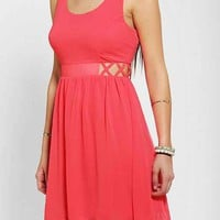 Sparkle & Fade Chiffon Lattice-Side Dress