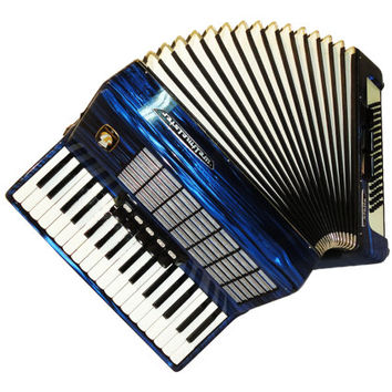 German Weltmeister Stella, 80 Bass, 8 Registers, Case, Piano Accordion Instrument, 519
