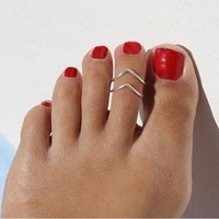 Simple Double Adjustable Toe Ring