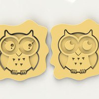 Owl Couple Cookie Cutters