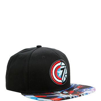 Marvel Captain America: Civil War Captain America Vs Iron Man Logo Snapback Hat