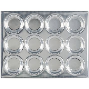Thunder Group 12 Cup Muffin Pan 3.5 Oz. Pack of 12