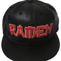 Ramen Perforated Faux Leather Cap