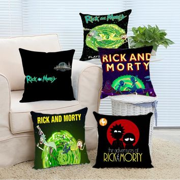 Rick and Morty Comfort Cool Covers Cover Case 14x14 16x16 18x18 20x20 24x24 inch Two Sides Zippered Home Throw Pillowcase
