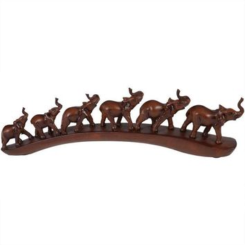 DCCKU3R Six Elephant Train Figurine