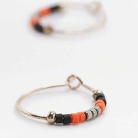 Beaded Hoop Earrings - Urban Outfitters