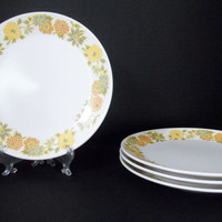 Vintage Dishes Noritake Bread Plates Sunny Side 9003 Orange Yellow