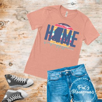 Home is My Happy Place State Tee - Vintage Boyfriend Tee