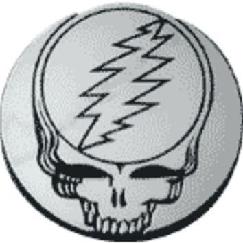 Grateful Dead - Steal Your Face Silver Car Emblem