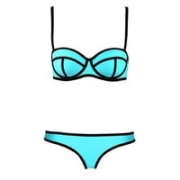 Sandistore Sexy Hot Women Bandage Bikini Set Bathing Suit Swimwear (S, Blue)