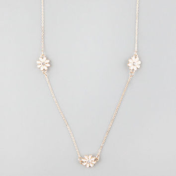 Full Tilt Daisy Long Chain Necklace Gold One Size For Women 25360462101