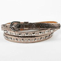 Women's Double Strap Belt in Silver/Bronze by Daytrip.